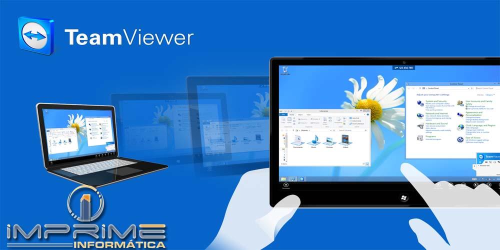 Suporte remoto pelo TeamViewer - Imprime Informática - Programa Para Imobiliária